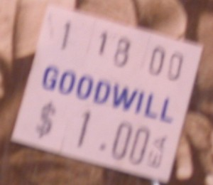 goodwill price tag