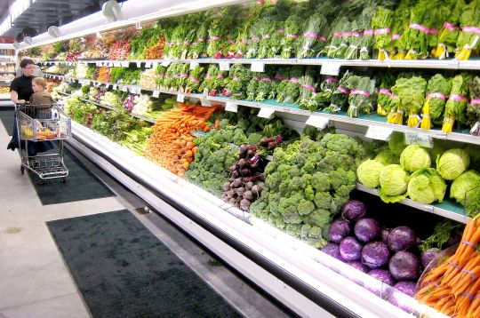 The organic produce area alone is bigger than the entire produce section of most stores.