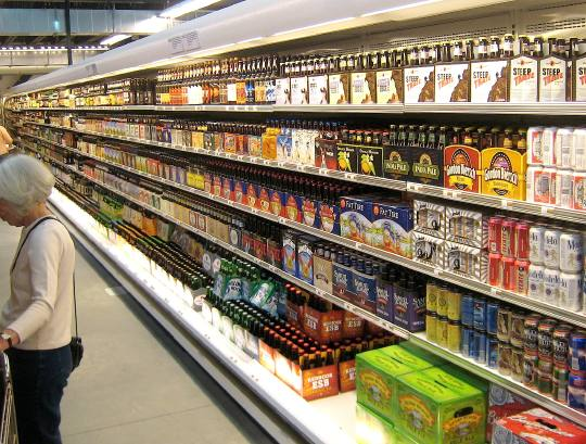A huge selection of local and microbrew beers.